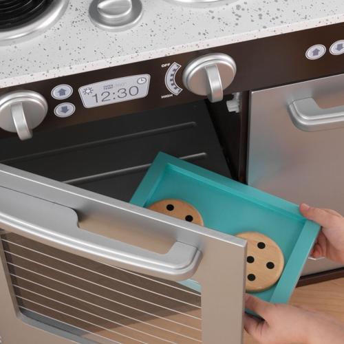 Kidkraft White Vintage Uptown Retro Kitchen Playset For: Uptown Espresso Kitchen